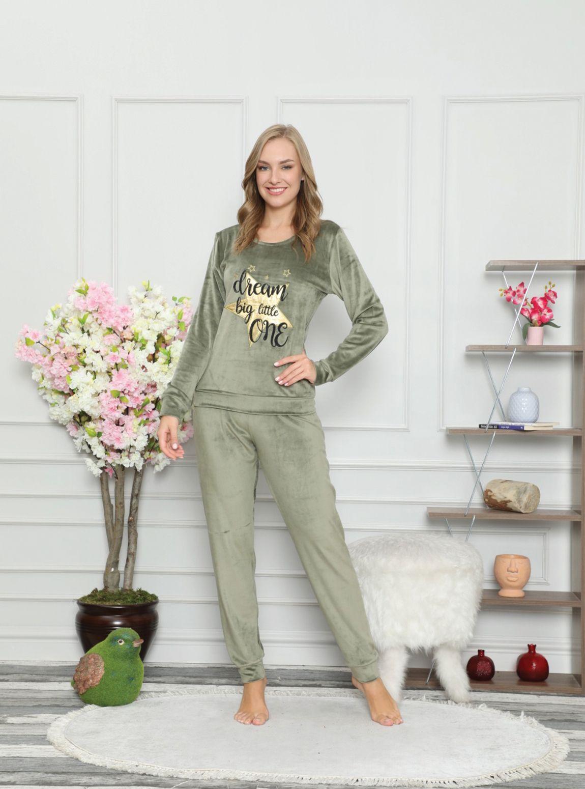 4200P Fransız Kadife Soft Pijama Tk
