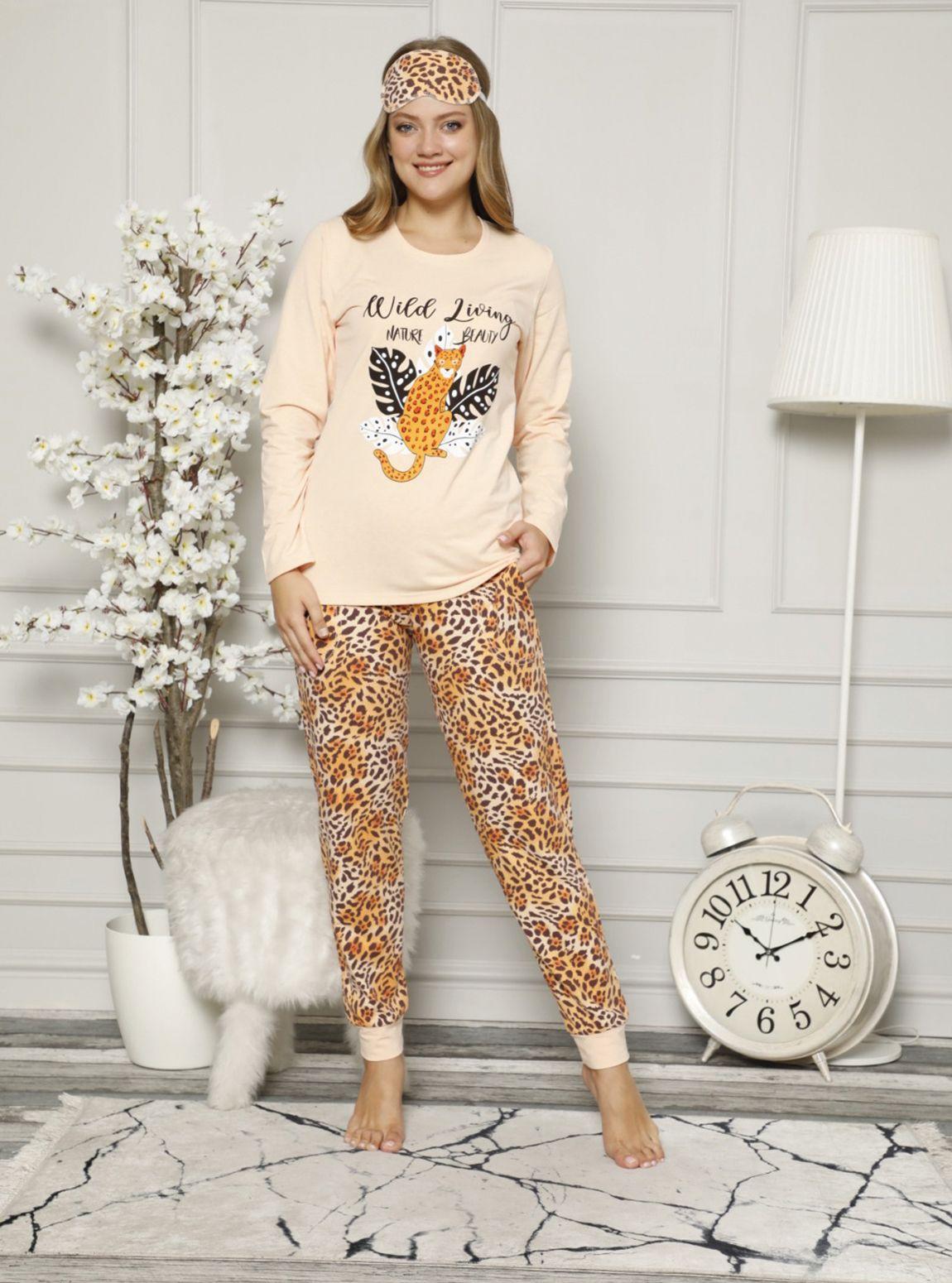 4610P Paça Manşet Likralı Pijama Tk